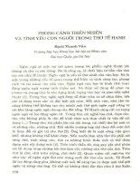 Phong cảnh thiên nhiên và tình yêu con người trong thơ Tế Hanh