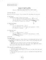 Bài tập lớn số 1 phương pháp phần tử hữu hạn