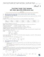 Phương pháp giải nhanh đề trắc nghiệm môn hóa học part 4 ôn thi đại học 2015