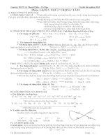 Hóa học vô cơ ôn thi tốt nghiệp THPT quốc gia 2015