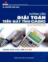 Tài liệu hướng dẫn giải toán trên máy tính Casio 570vnPlus