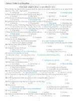 TRẮC NGHIỆM POLIME HỢP CHẤT CAO PHÂN TỬ HÓA HỌC 12