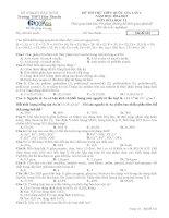 Đề thi thử Lần 1 2015 Trường THPT Hàn Thuyên Môn Hóa học