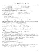 Trắc nghiệm ôn tập học kỳ 1 Vật lý 12