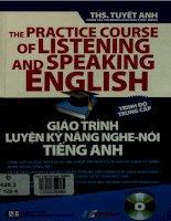 Giáo trình luyện kỹ năng nghe - nói tiếng Anh