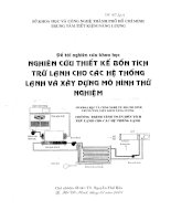 Nghiên cứu thiết kế bồn tích trữ lạnh cho các hệ thống lạnh và xây dựng mô hình thử nghiệm