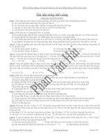 Chuyên đề Vật Lý 12 Sóng ánh sáng