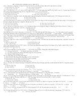 Đề cương ôn tập HKI 12 Ban A môn hóa học