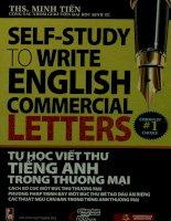 Tự học viết thư tiếng Anh trong thương mại