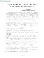Vận dụng linh hoạt các phương pháp để giải nhanh bài toán hóa học ôn thi đại học 2015