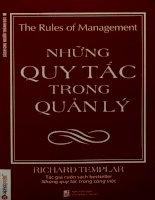 Những quy tắc trong quản lý Những chỉ dẫn cụ thể để mang lại thành công trong quản lý