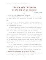 văn học viết tiền giang từ đầu thế ký XX đến 1945