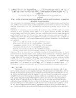 NGHIÊN CỨU CÁC BIỆN PHÁP XỬ LÝ NGUYÊN LIỆU THỨC ĂN CHĂN NUÔI ĐỂ NÂNG CAO TỶ LỆ BYPASS PROTEIN TRONG KHẨU PHẦN BÒ SỮA