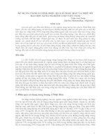 SỬ DỤNG NĂNG LƯỢNG HIỆU QUẢ Ở NHẬT BẢN VÀ MỘT SỐ BÀI HỌC KINH NGHIỆM CHO VIỆT NAM