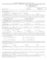 bộ đề thi thử môn vật lý 2015