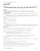 phương pháp hàm số trong các bài đại số