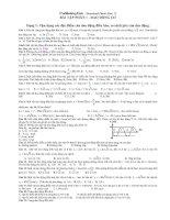 Bài tập trắc nghiệm Dao động cơ lớp 12 có đáp án