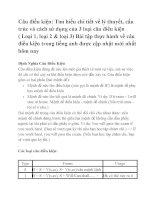 Lý thuyết và bài tập áp dụng về câu điều kiện trong tiếng anh