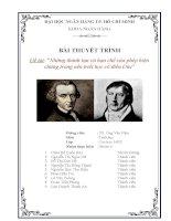 Những giá trị và hạn chế của phép biện chứng trong nền triết học cổ điển Đức