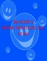 Bài giảng Đại số 11 chương 1 bài 2 Phương trình lượng giác cơ bản
