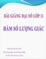 Bài giảng Đại số 11 chương 1 bài 1 Hàm số lượng giác