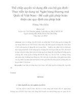 Thế chấp quyền sử dụng đất của hộ gia đình - Thực tiễn áp dụng tại Ngân hàng thương mại Quốc tế Việt Nam - Đề xuất giải pháp hoàn thiện các quy định của pháp luật