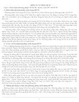 Câu hỏi và đáp án ôn thi môn tư tưởng Hồ Chí Minh