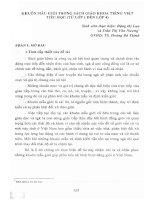 Khuôn mẫu giới trong sách giáo khoa tiếng Việt tiểu học( từ lớp 1 đến lớp 4