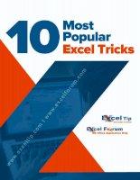 10 Most Popular Excel Tricks