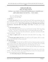 SKKN MỘT SỐ BIỆN PHÁP NÂNG CAO CHẤT LƯỢNG BUỔI SINH HOẠT CHI ĐỘI 6A2 LIÊN ĐỘI THCS TÂN HƯNG – TÂN CHÂU