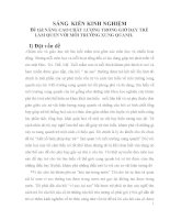 skkn NÂNG CAO CHẤT LƯỢNG TRONG GIỜ dạy TRẺ làm QUEN với môi TRƯỜNG XUNG QUANH