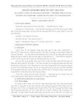 Biện phap tổ chức thi công nâng cấp QL91 đoạn Châu Đốc, TỊnh biên thỉnh An giang