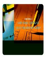 Bài giảng Quản trị doanh nghiệp I Chương 1,2,3