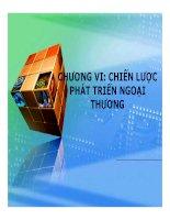 Bài giảng Chính sách thương mại quốc tế Chương 6 và 7