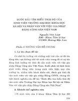 Bước đầu tìm hiểu thái độ của sinh viên trường Đại học Khoa học xã hội và Nhân văn với việc gia nhập Đảng Cộng sản Việt Nam