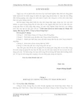Tính toán và kiểm tra tình trạng kỹ thuật của mạng điện hạ áp 380V công ty tha Dương Huy