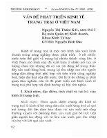 Vấn đề phát triển kinh tế trang trại ở Việt Nam