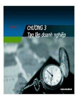Bài giảng Quản trị kinh doanhPhần I Chương 3 và 4