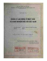 Quản lý lao động ở Nhật Bản và kinh nghiệm đối với Việt Nam