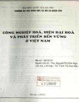 Công nghiệp hoá, hiện đại hoá và phát triển bền vững ở Việt Nam
