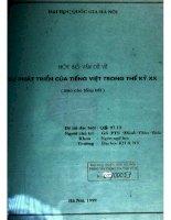 Một số vấn đề về sự phát triển của tiếng Việt trong thế kỷ XX