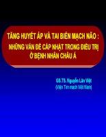 TĂNG HUYẾT ÁP VÀ TAI BIẾN MẠCH NÃO  NHỮNG VẤN ĐỀ CẦP NHẬT TRONG ĐIỀU TRỊ Ở BỆNH NHÂN CHÂU Á