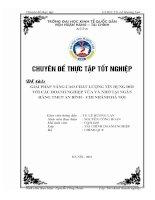 Giải pháp nâng cao chất lượng tín dụng đối với các doanh nghiệp vừa và nhỏ tại Ngân hàng TMCP An Bình – Chi nhánh Hà Nội