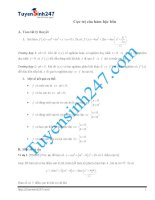 cực trị hàm bậc 4 tiết 2