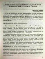 L'utilisation Des Documents iconiques , Dans La Formation D'excellence Au Viet Nam