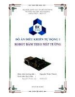 đồ án điều khiển tự động 1 robot bám theo mép đường