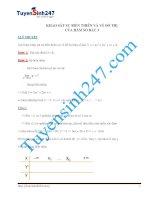 khảo sát và vẽ đồ thị hàm số 1