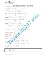 nguyên hàm,tích phân của hàm căn