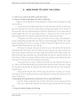 BIỆN PHÁP THI CÔNG CỌC KHOAN NHỒI, CỌC BARRETTE VÀ 2 TẦNG HẦM THEO PHƯƠNG PHÁP