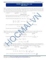 36 Bài tập  Lý 12 hay và khó